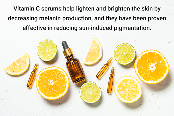 vitamin C serums can help treat tanned skin
