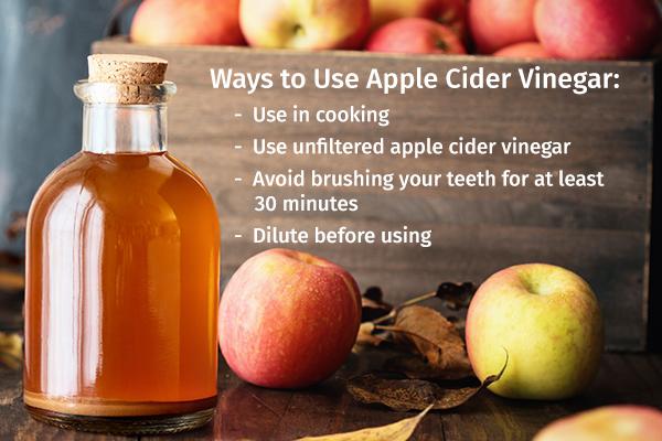proper ways to use apple cider vinegar