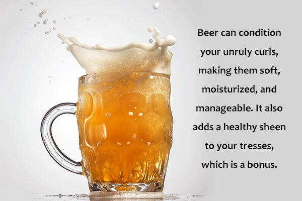 beer can help condition your unruly curls