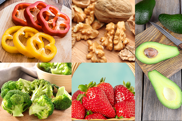 consume bell pepper, walnuts, avocados, etc. for healthy eyes