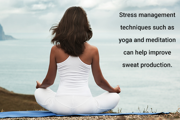 stress management can help improve sweat production
