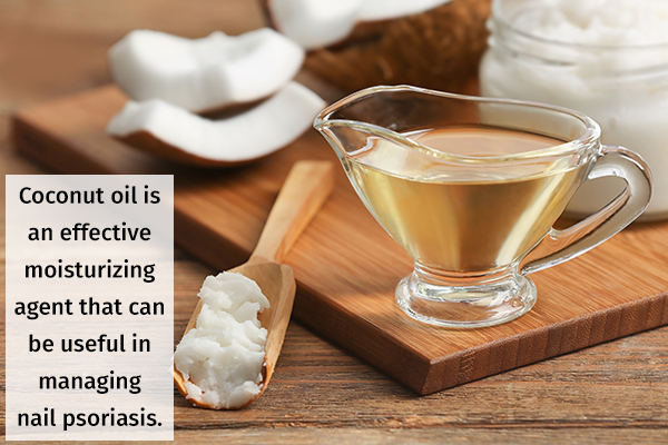 coconut oil massage can help manage nail psoriasis