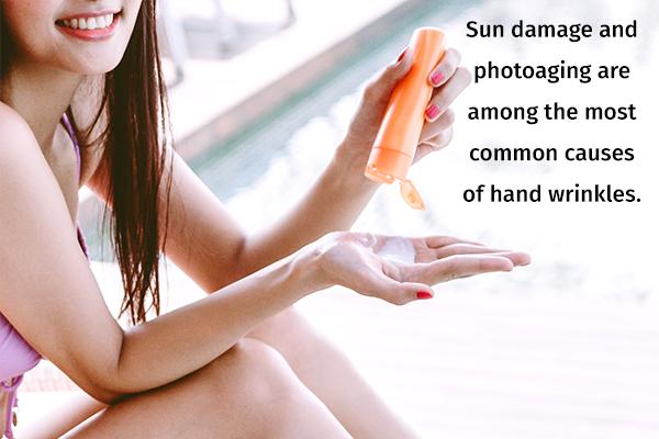 avoid sun exposure to prevent hand wrinkles