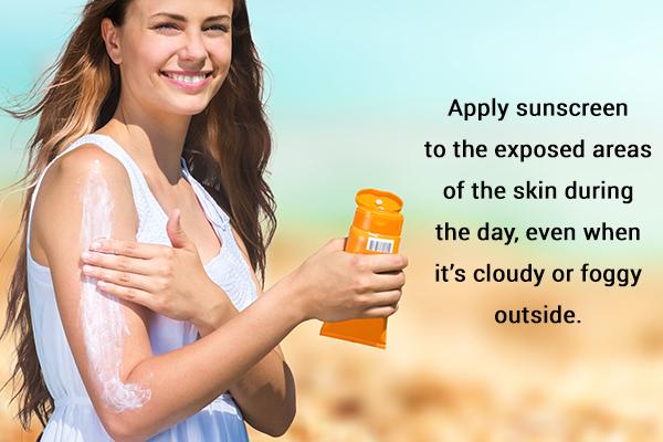 self-care measures for suntan management