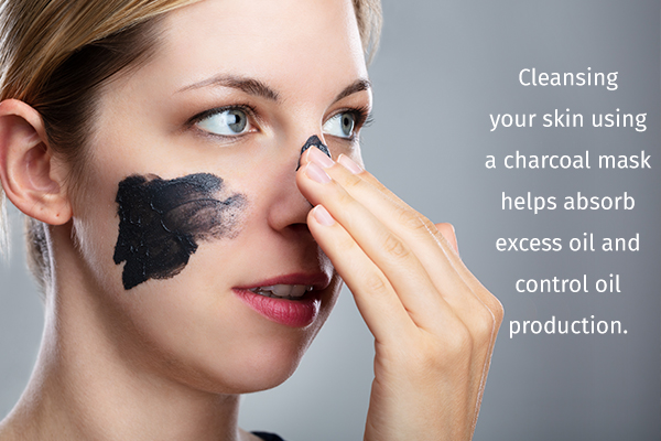 charcoal mask can help cleanse your skin and reduce oiliness