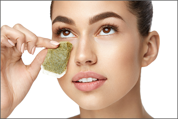 cold, green tea bags can help soothe puffiness around eyes