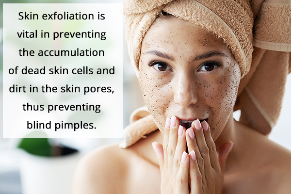 exfoliate your skin weekly to prevent blind pimple formation
