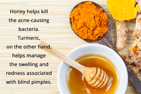 a honey-turmeric paste can help fade blind pimples