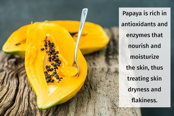 papaya can help nourish your hair, skin, and nails