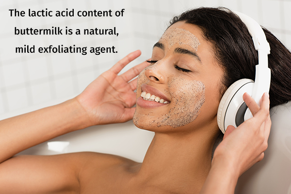 buttermilk can be used as an natural exfoliating agent