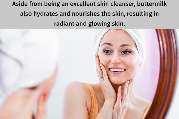buttermilk can help you achieve glowing skin