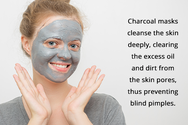 charcoal masks can help cleanse and clear blind pimples